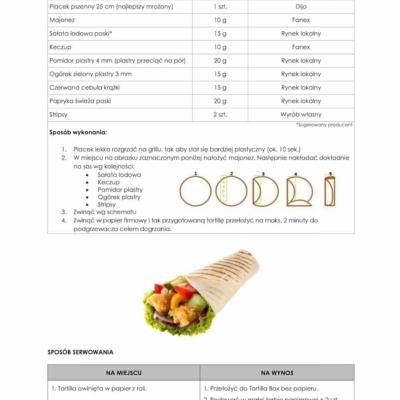 tortilla instrukce ala kfc