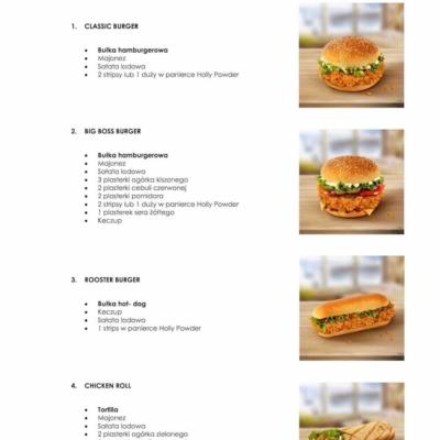 menu pro místo s křupavým kuřecím masem