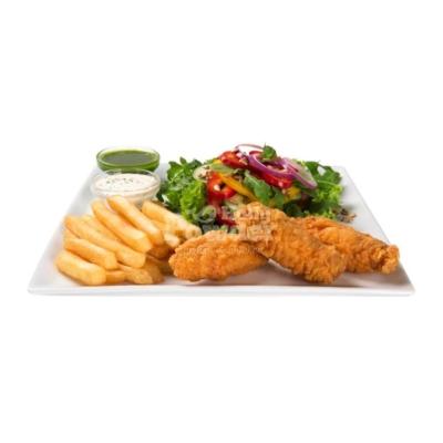 salát s pikantními křidélky jako kfc Y5